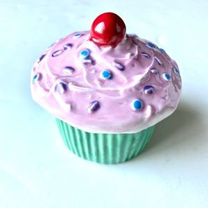 Cupcake container jewelry holder LID cup trinket